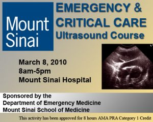 Emergency and Critical Care Ultrasound CME Course
